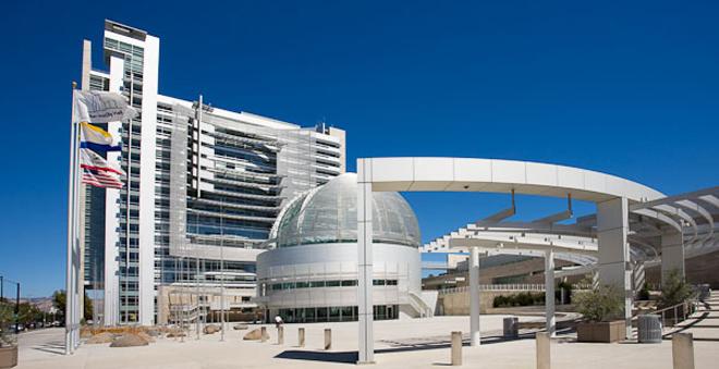 San Jose City Hall designed by Richard Meier. San Jose, California.